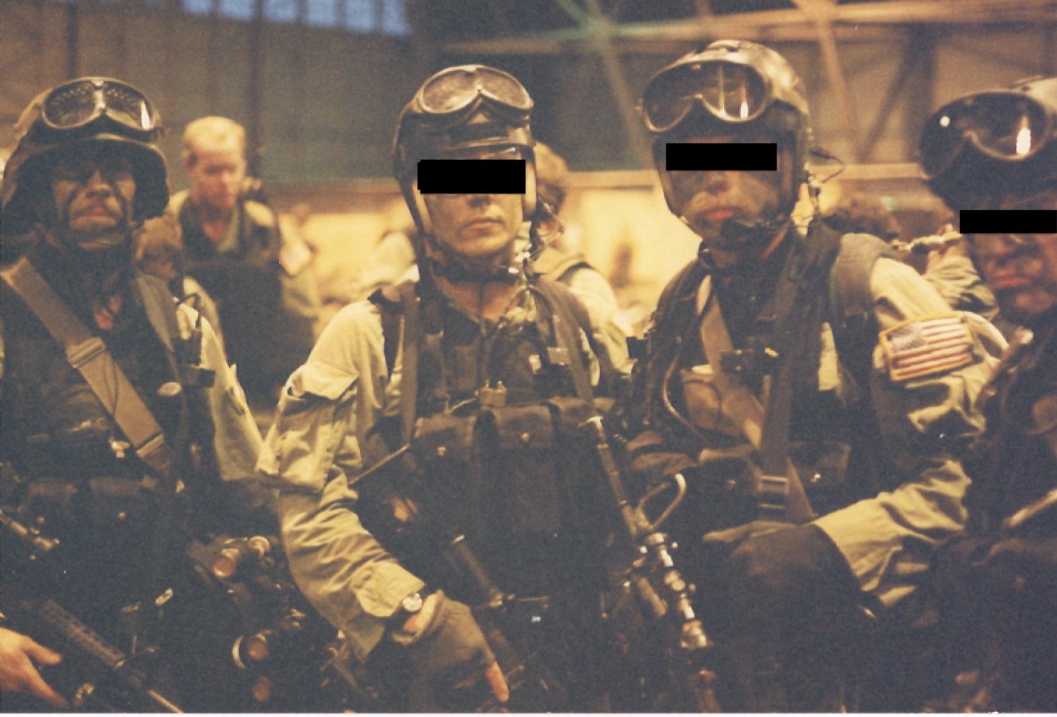 Delta Force Beret Flash sustaining a flash-bang