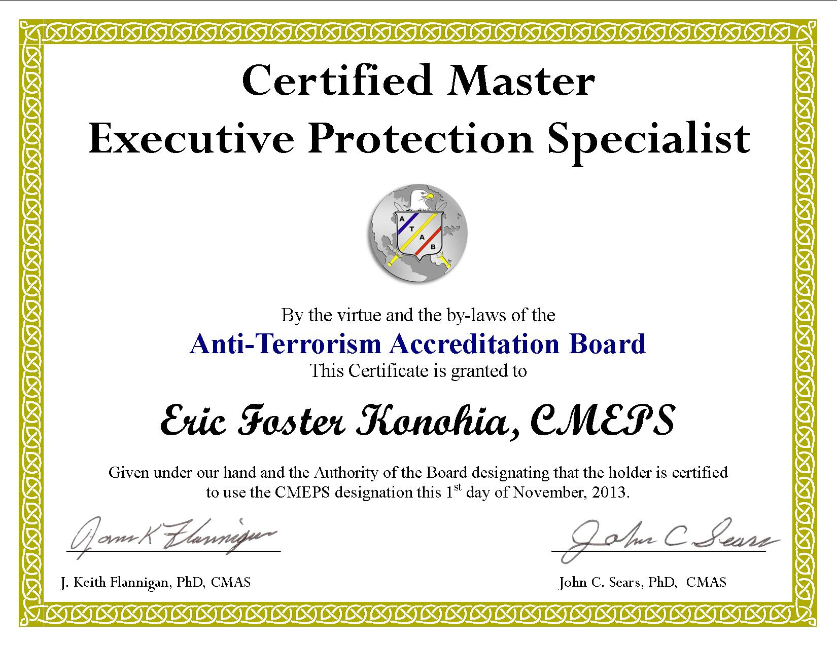 Answering all of your questions about the cmeps bpi security i have had many people contact me about the certified master executive protection specialist course cmeps in june of 2013 the anti terrorism xflitez Choice Image